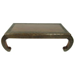 Antique Chinese Carved Hardwood Low Table