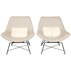 Pair of Kosmos Lounge Chairs, Designed by Augusto Bozzi