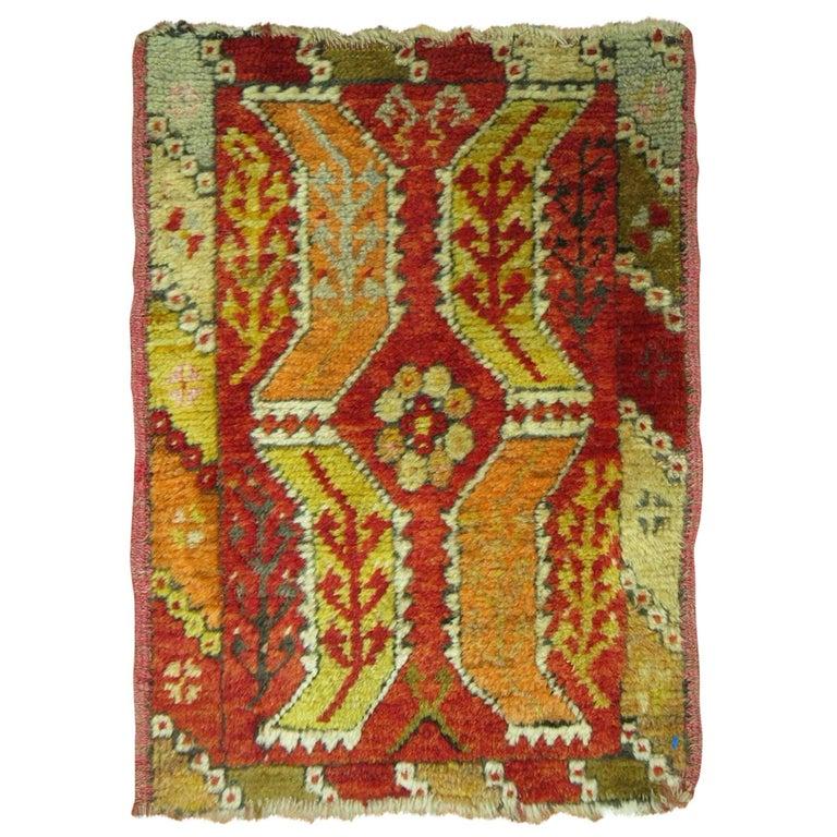 Turkish Yastik Rug: Antique Turkish Yoruk Rug For Sale At 1stdibs