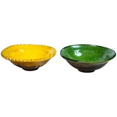 Vintage French Pottery Bowls, circa 1920s