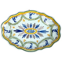 French Faience Platter, Late 19th Century