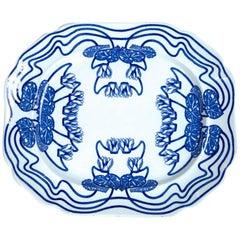 Ceramic Serving Platter, Cauldon, Staffordshire, England, circa 1900