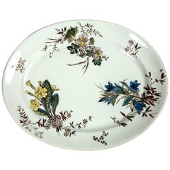Antique Ceramic Serving Platter, Early 19th Century