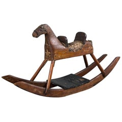 American Folk Art Child's Rocking Horse, circa 1900