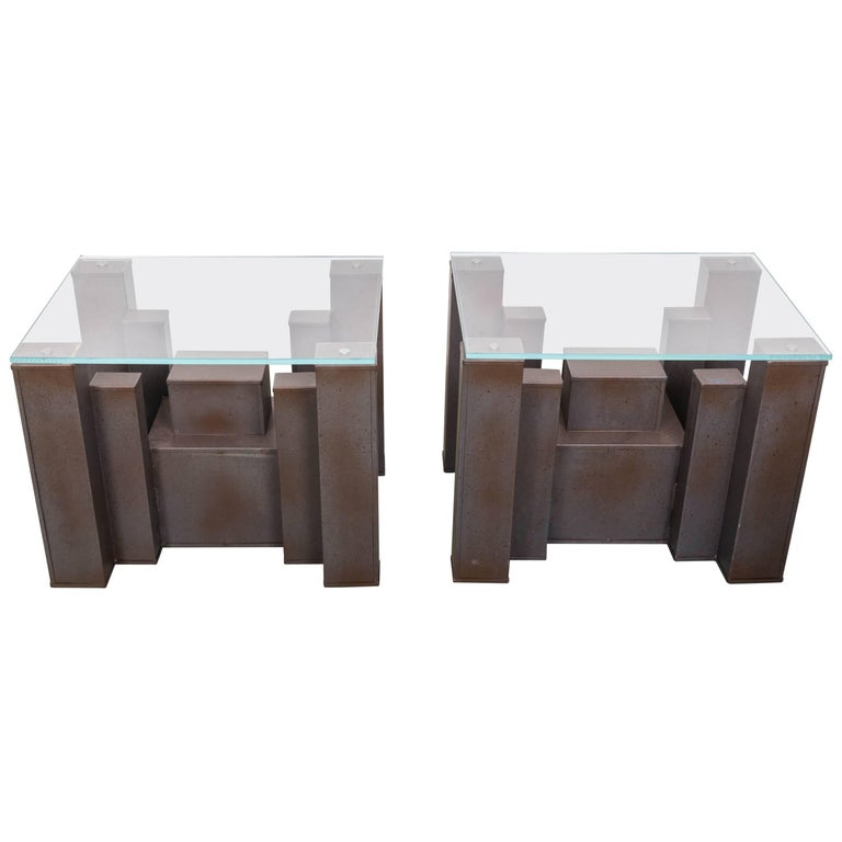 Pair of Andrew Martin Columbus Side Tables
