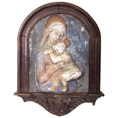18th Century Religious Artifact Madonna and Child