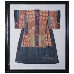 Framed Yose Juban Kimono