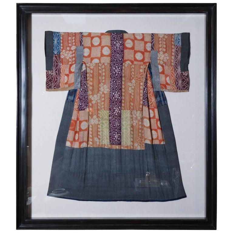 Framed Yose Juban Kimono At 1stdibs