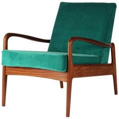 Reclining Wooden Lounge Chair At 1stdibs