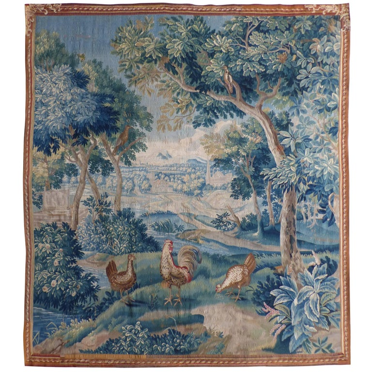 Exceptional flemish tapestry 18th century landscape with for Garden design 18th century