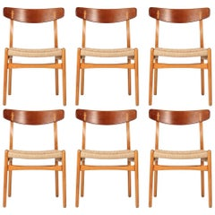 Hans Wegner CH23 Set of Six Chairs
