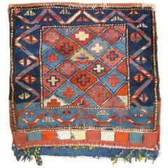 Antique Caucasian Textile Bagface Rug