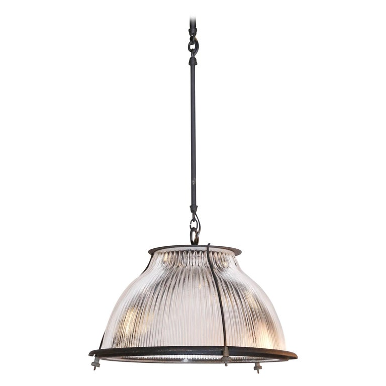 Glass And Metal Industrial Pendant Light Fixtures For Sale At 1stdibs