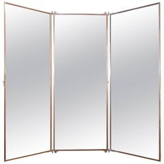 Triptych Mirror from France