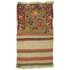 Camel Bakshaish Kilim End Bagface Textile Rug