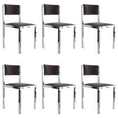 Set of Six Midcentury Dining Chairs from France