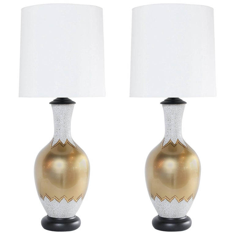 Pair of Restored Midcentury Table Lamps