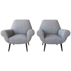 Pair of Midcentury Italian Armchairs