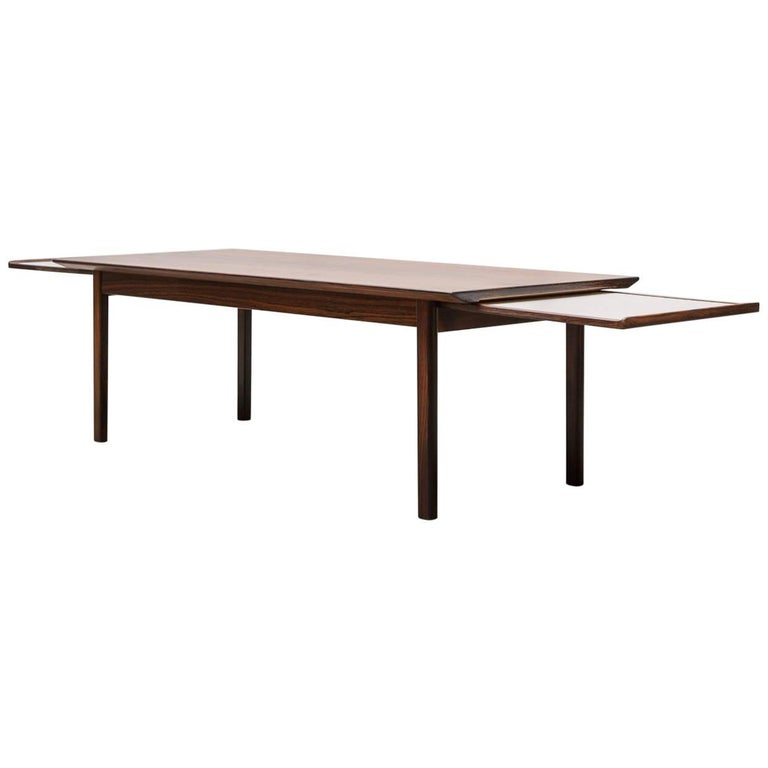 Swedish Rosewood Coffee Table With Extending Trays For Sale At 1stdibs