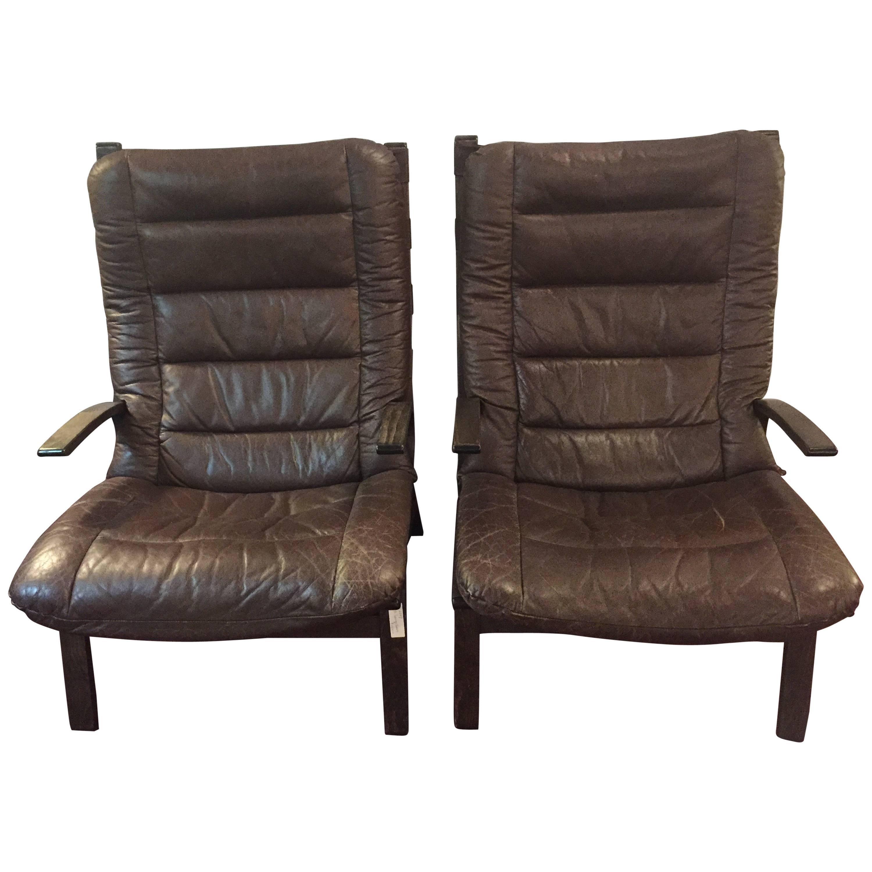 Pair of Mid-Century Modern Siesta Lounge Chairs by Ingmar Relling for Westnofa