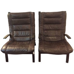 Pair of Mid-Century Modern Siesta Lounge Chairs by Ingmar Relling for Westnofa