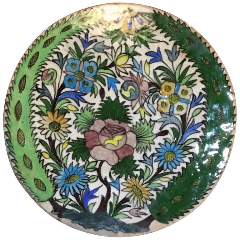 Hand-Painted Vintage Persain Tile
