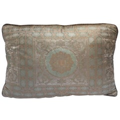 Green Silk Pillow Custom-Made from an Indian Wedding Sari