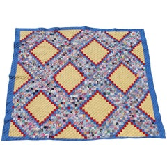 Quilt in Postage Stamp Chain Pattern