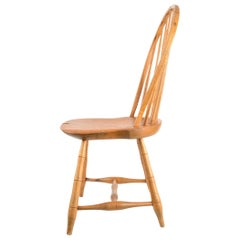 18th Century American Saddle Seat Bow Back Windsor Side Chair