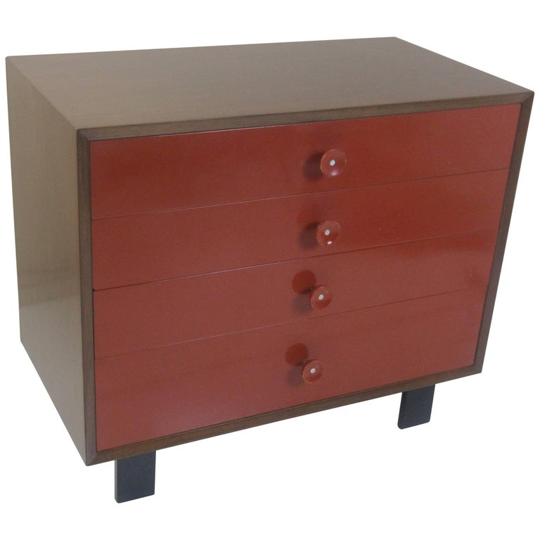 George Nelson for Herman Miller Vanity Chest of Drawers in Walnut For Sale