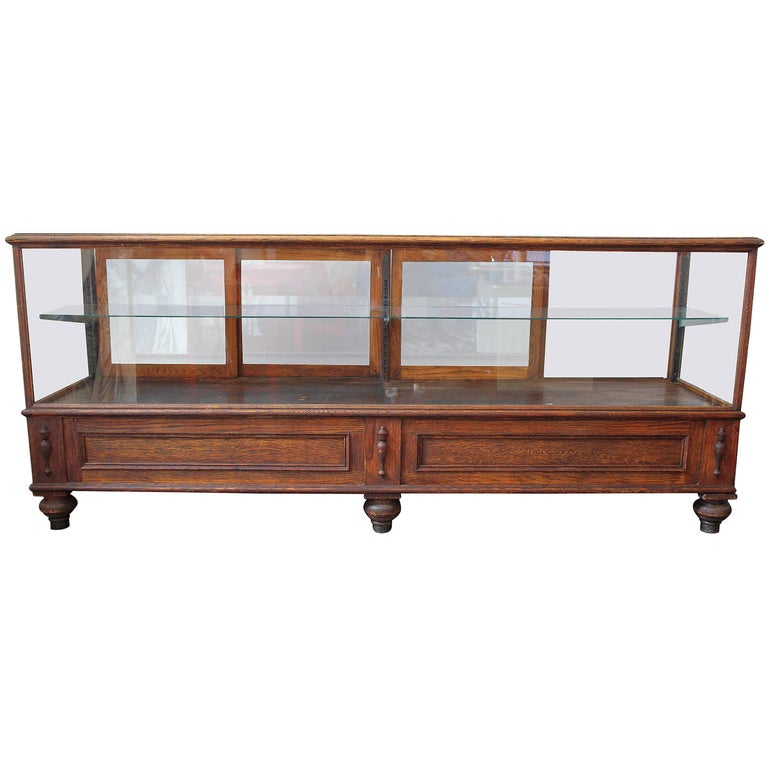 Antique Glass Case by Grand Rapid Store Equipment For Sale