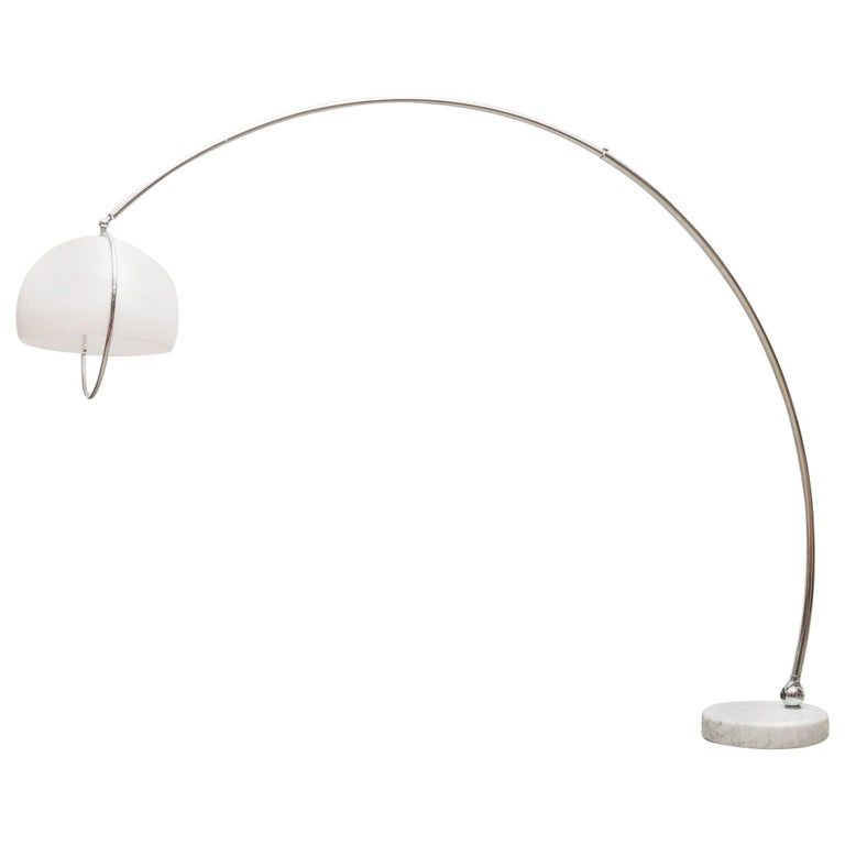 Mod 1970s Large Arc Lamp with Marble Base 1