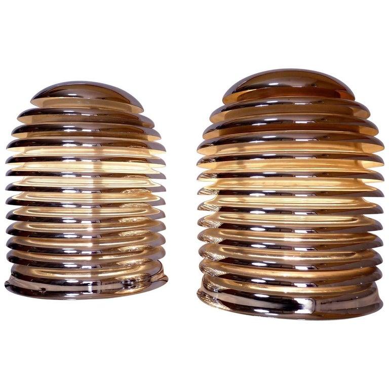 Pair of Kazuo Motozawa 'Saturno' Table Lamps for Staff Leuchten, circa 1972