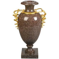 Swedish Gilt Bronze Mounted Porphyry Urn
