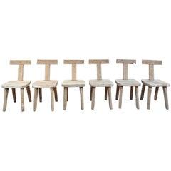 Set of Six Chairs by Olavi Hanninen, 1950s
