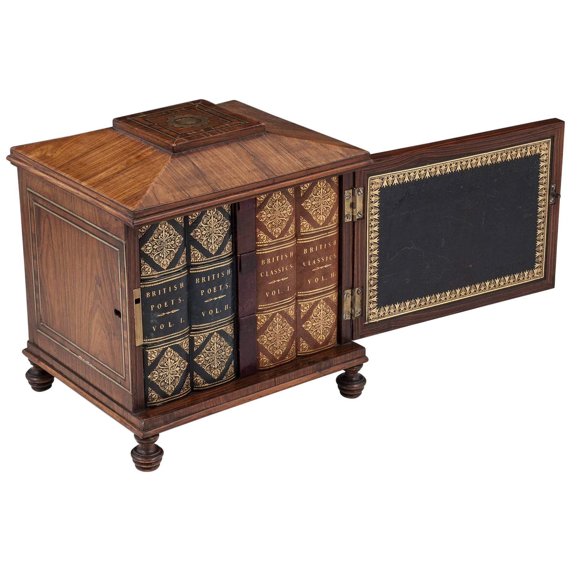 Regency Kingwood Sewing Box / Writing Cabinet, 19th Century For Sale