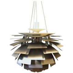 Artichoke in Brushed Steel by Poul Henningsen and Louis Poulsen