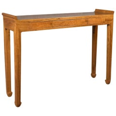 Midcentury Hall Console Table, Oriental Alter Table in Cherry