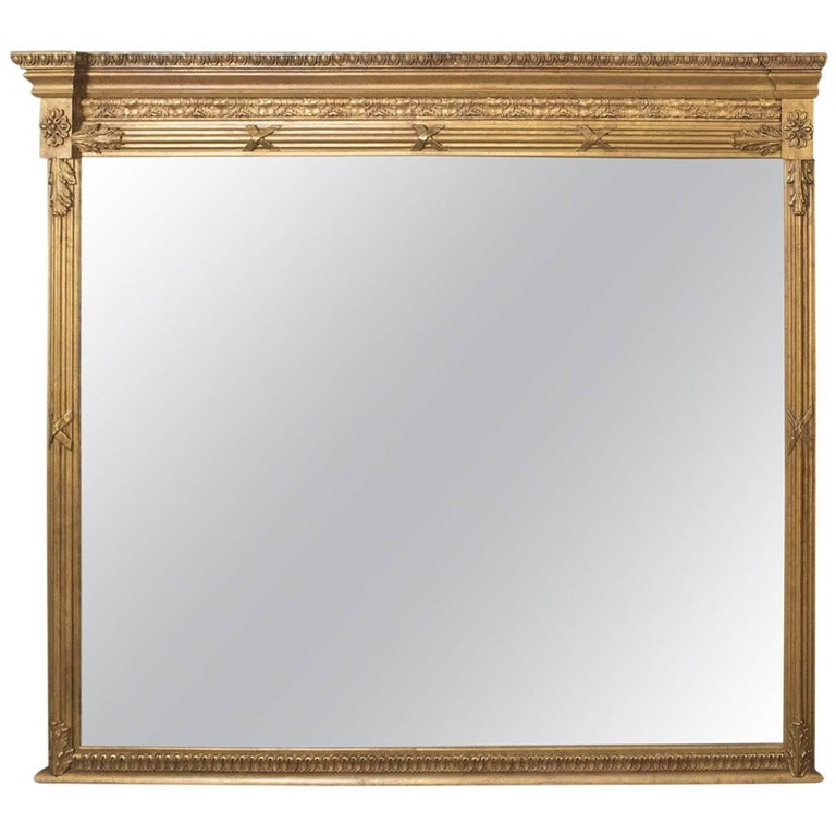 Regency revival overmantel wall mirror top quality late for Mirror quality