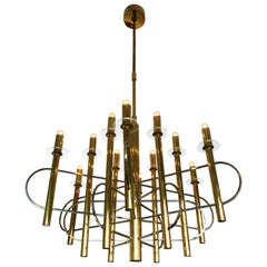 Chandelier by Sciolari, Italy, 1970s