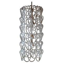 Vintage Midcentury Murano Chain Link Chandelier