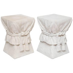 Pair of Tassel Side Tables in the Style of John Dickinson