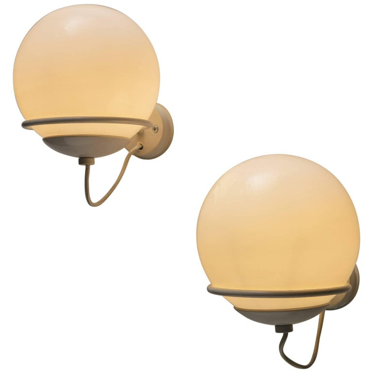 Pair of Wall Lamps Model 371/1 by Gino Sarfatti for Arteluce