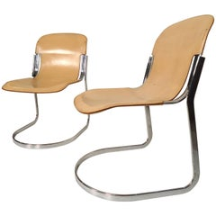 Willy Rizzo for Cidue Mid-Century Chrome Chairs