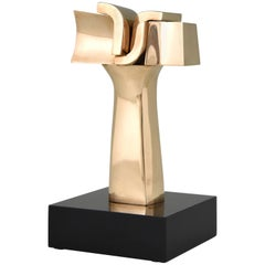Mid-Century Modern Bronze Abstract Sculpture José Luiz Sanchez