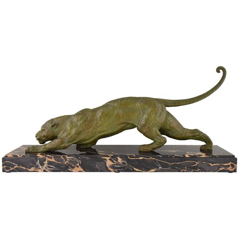 Art Deco Sculpture of a Panther Demetre H. Chiparus, 1930 France