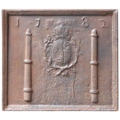 18th Century, French 'Arms of France' Fireback