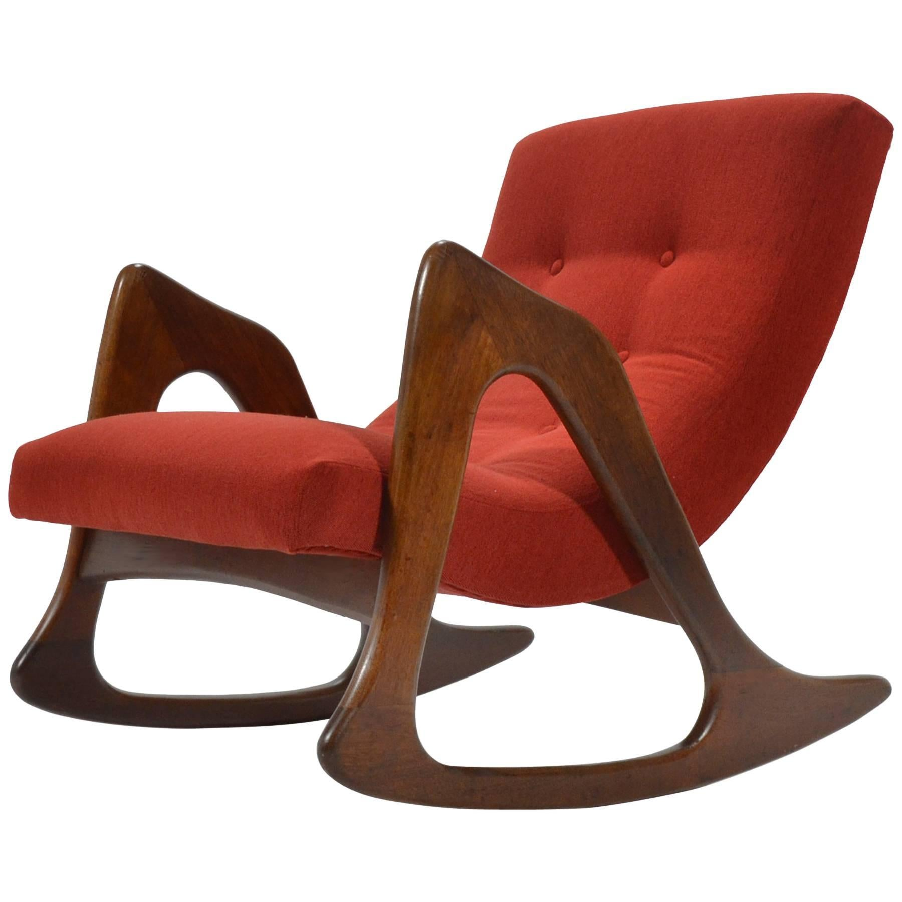 Superb Adrian Pearsall Rocking Chair By Craft Associates For Sale
