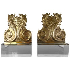 Pair of 19th Century French Mounted Dolphin Plaques