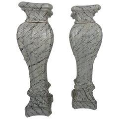 Pair of Mid-20th Century Swedish Ceramic Pedestals